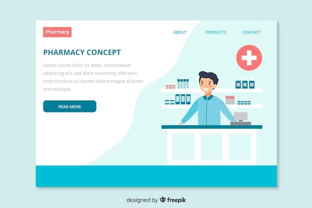 Landing page de farmacia online