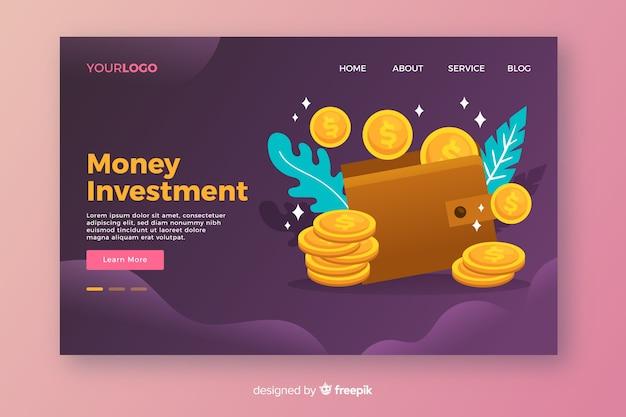 Landing page de finanzas