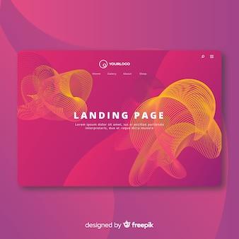 Landing page de formas abstractas lineales