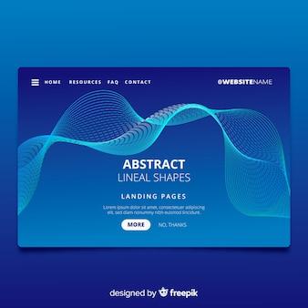 Landing page con formas abstractas lineales