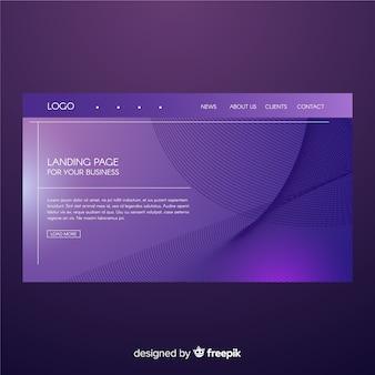 Landing page de formas abstractas