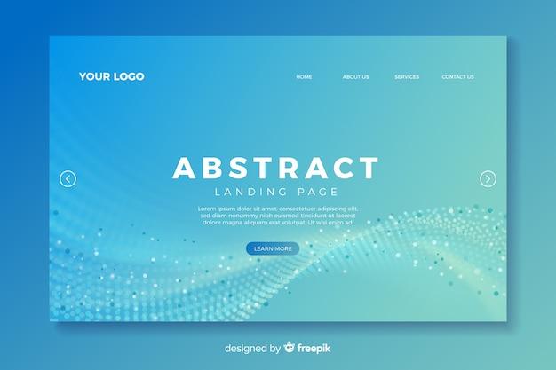 Landing page con formas abstractas