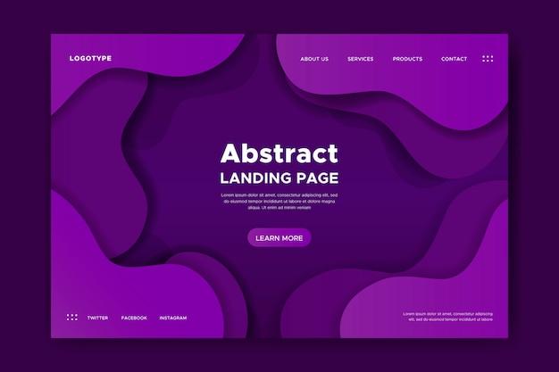 Landing page con formas dinámicas.