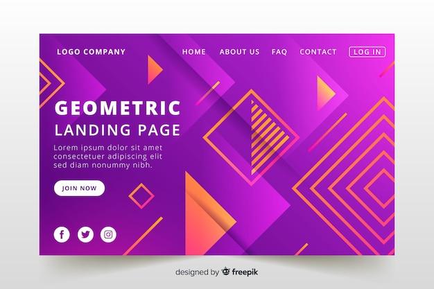 Landing page de formas geométricas