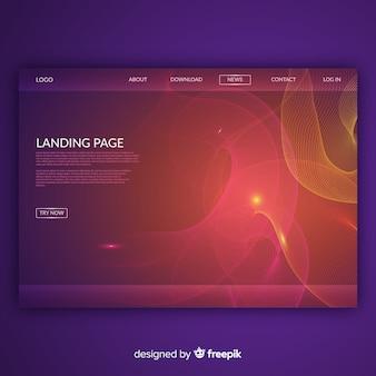 Landing page con formas lineales