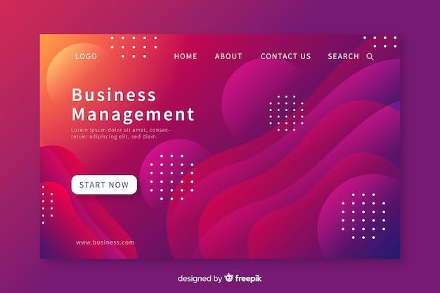 Landing page formas líquidas conferencia de negocios