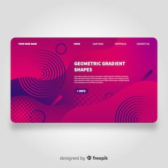 Landing page geométrica