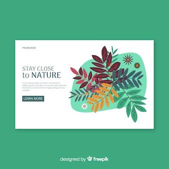 Landing page hojas