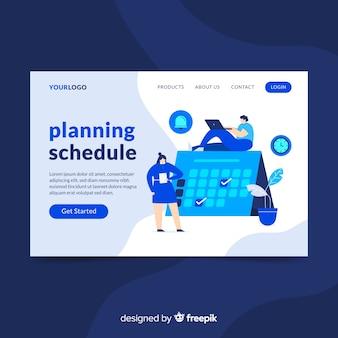 Landing page de horario de planificación