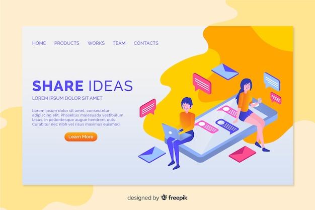 Landing page de ideas
