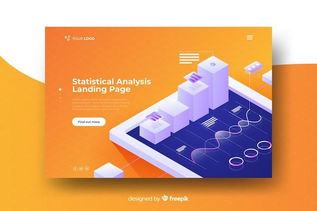 Landing page de infografia en isométrico