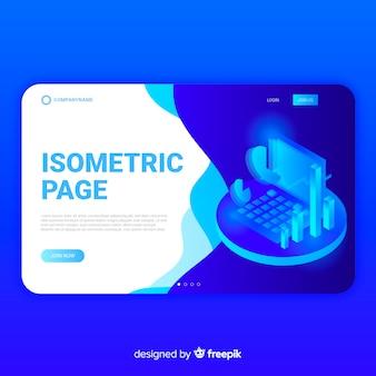 Landing page infográfica isométrica