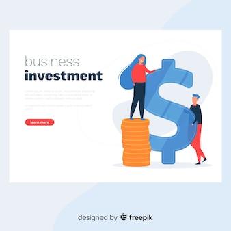 Landing page de inversión de negocios