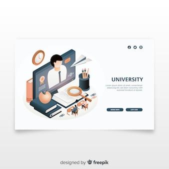 Landing page isométrica universidad