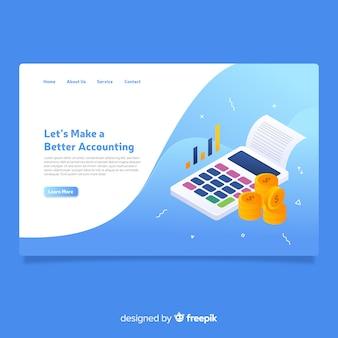 Landing page isométrica