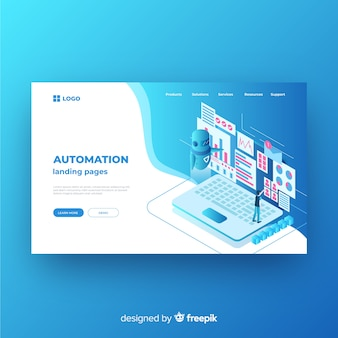 Landing page isométrico