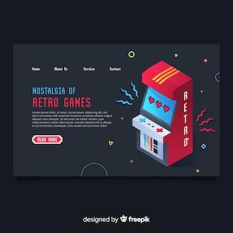 Landing page de juegos
