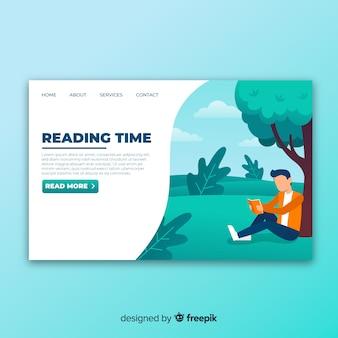 Landing page de lectura