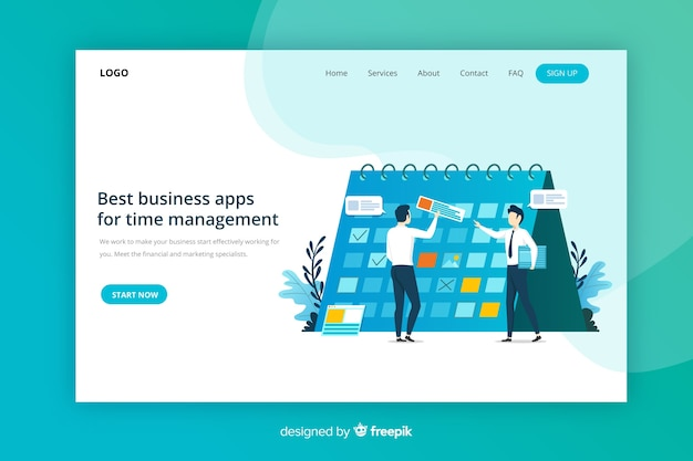 Landing page de management