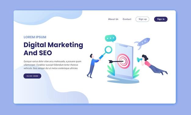 Landing page de marketing digital y seo