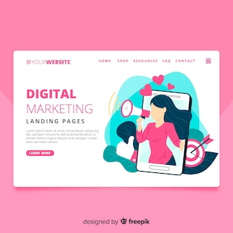 Landing page de marketing digital