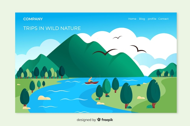 Landing page de naturaleza con paisaje