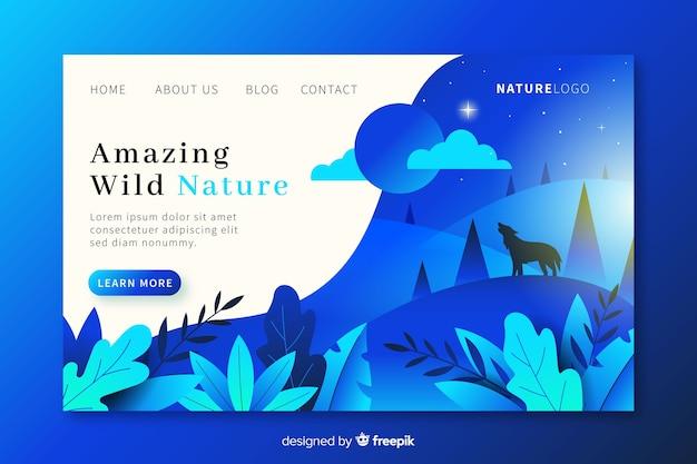 Landing page de naturaleza