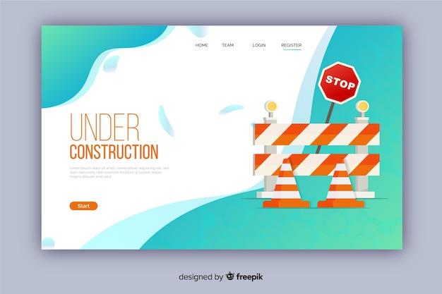Landing page plana en construcción