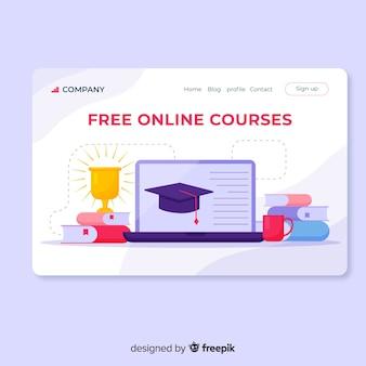Landing page plana educación online