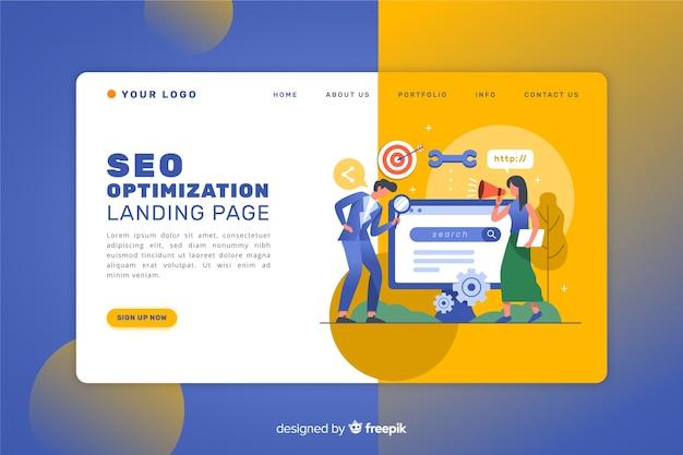 Landing page de posicionamiento seo