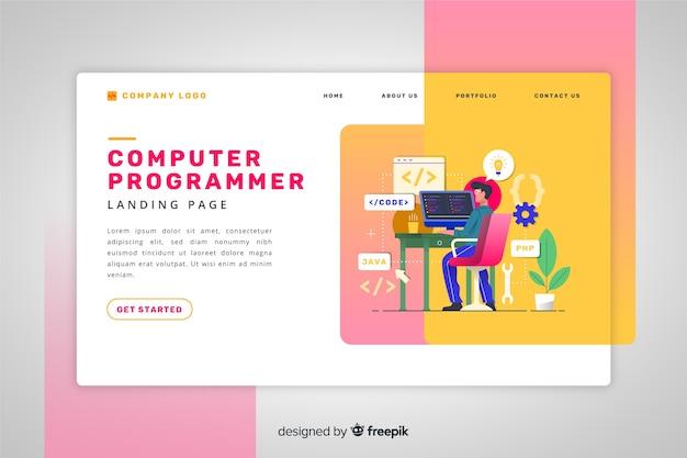 Landing page de programador