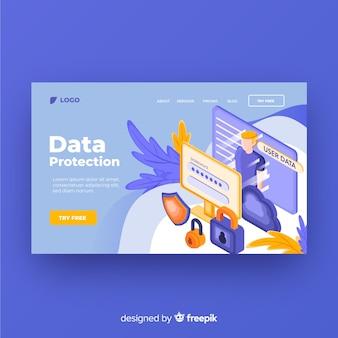 Landing page de protección de datos
