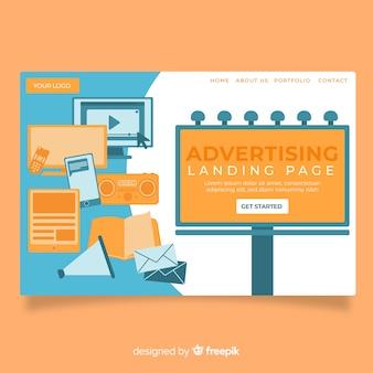 Landing page de publicidad