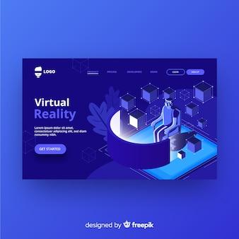 Landing page de realidad virtual