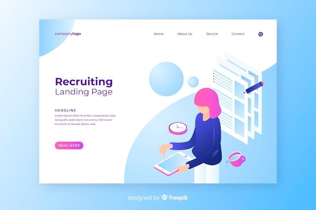 Landing page de reclutamiento