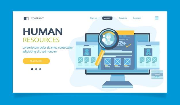 Landing page de recursos humanos