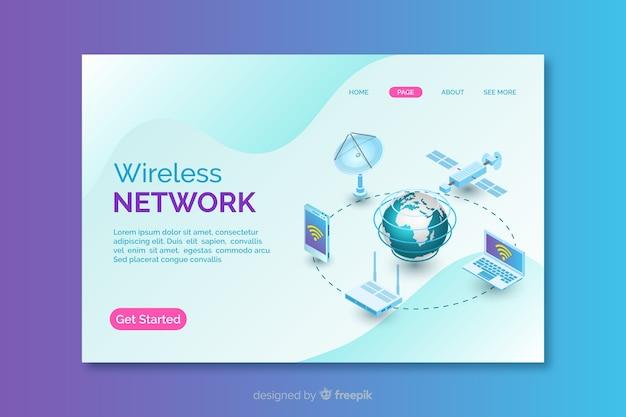 Landing page de redes inalámbricas