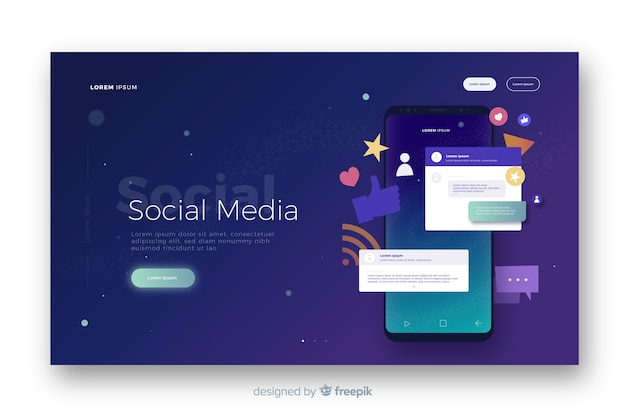 Landing page de redes sociales