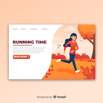 Landing page de running