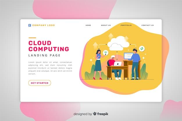 Landing page de servicios en la nube