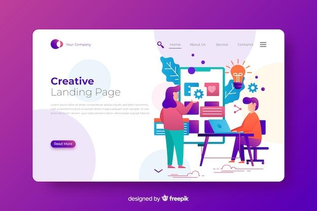 Landing page sobre el proceso creativo