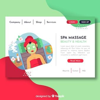 Landing page de spa