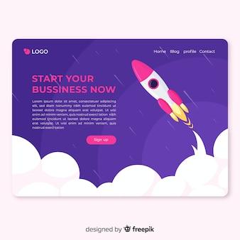 Landing page de startup