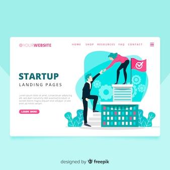 Landing page startup