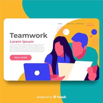 Landing page de trabajo en equipo