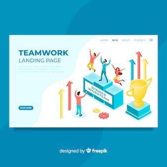 Landing page de trabajo de equipo