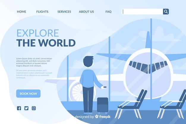 Landing page de viaje