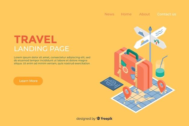 Landing page de viajes