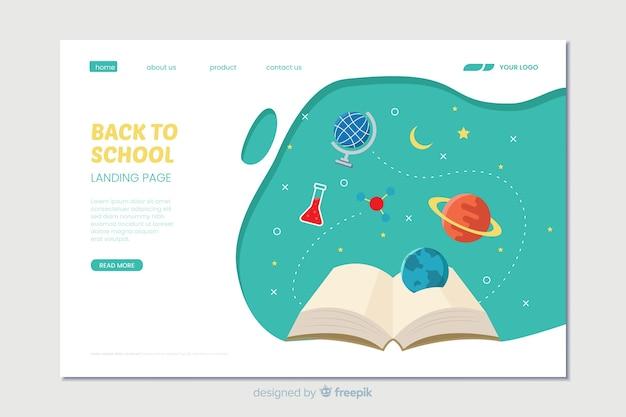 Landing page de la vuelta al cole