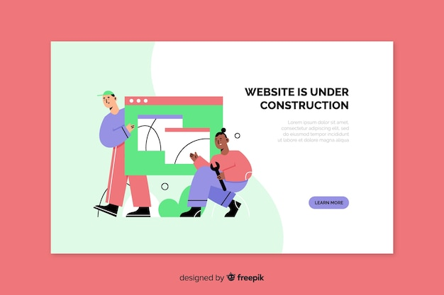 Landing page web en construcción